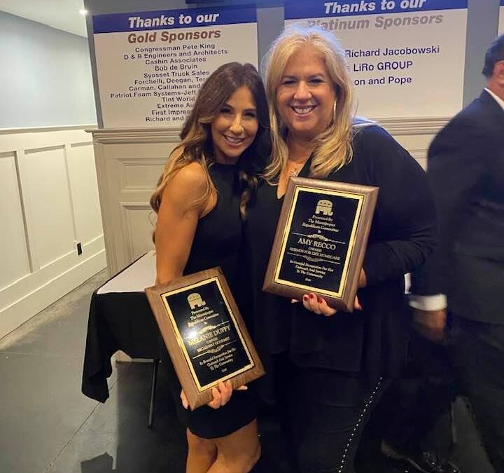 Amy Recco and Melanie Duffy Receive Community Service Award